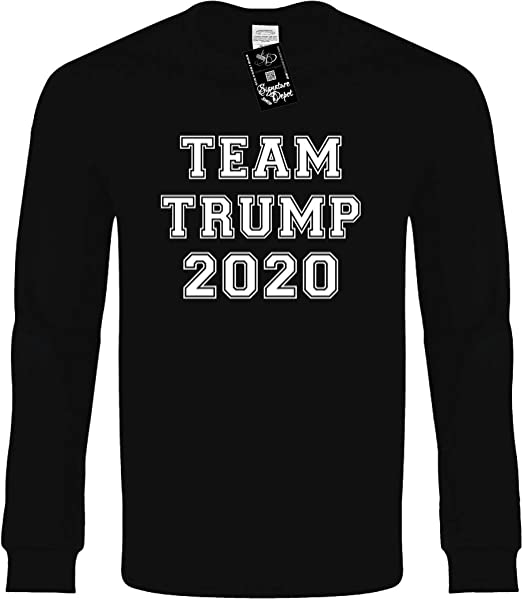 7cb2a34c6 Signature Depot Kids Long Sleeve Tee XS (Team Trump 2020 (College Font)  Election