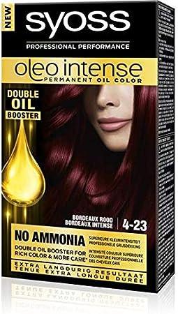 Syoss Color Oleo Intense 4-23 - Tinte para el pelo, color burdeos