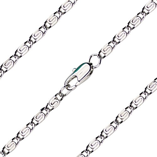 (7 inch Rhodium Plated Scroll Bracelet Chain)