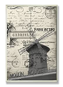 The Stupell Home Decor Collection Paris Typography Number 2 Wall Plaque
