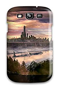 Anti-scratch And Shatterproof Trip To The City 2 Phone Case For Galaxy S3/ High Quality Tpu Case