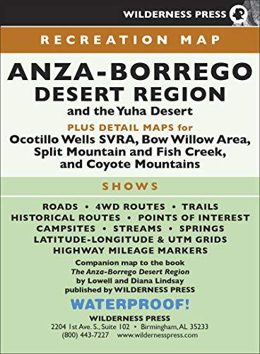 MAP Anza-Borrego Desert Region Anza Borrego Desert State Park