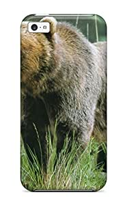 Awesome Grizzly Bears Flip Case With Fashion Design For Iphone 5c