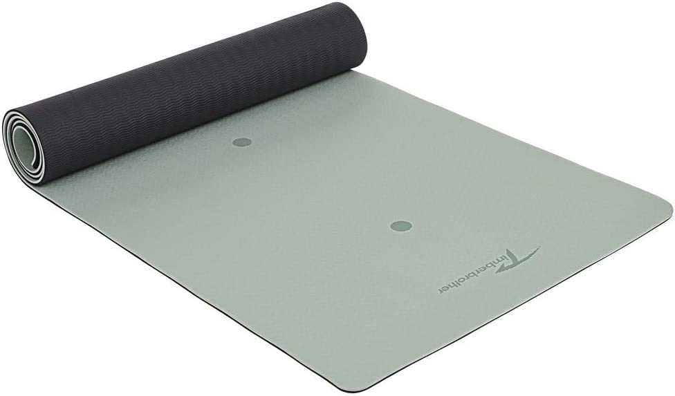 Timberbrother Yoga Mat –Non Slip Eco-Friendly TPE Material, with Body Alignment System for Yoga,Pilates and Indoor Exercises