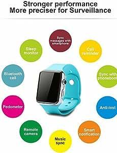 Para Vestir - para - Smartphone - Lincass - D Watch - Reloj elegante - Bluetooth 3.0 -Llamadas con Manos Libres/Control de Medios/Control , blue