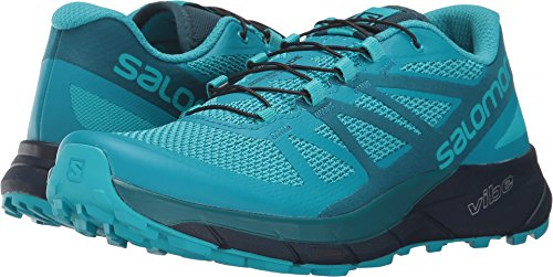 Salomon Women's Sense Ride Trail Running Shoes Blue Bird / Deep Lagoon / Navy Blazer 5.5 by Salomon