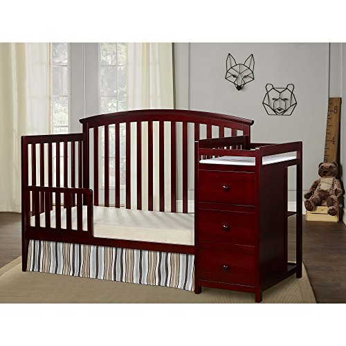 Dream On Me Niko 5-in-1 Convertible Crib with Changer, Cherry by Dream On Me (Image #2)
