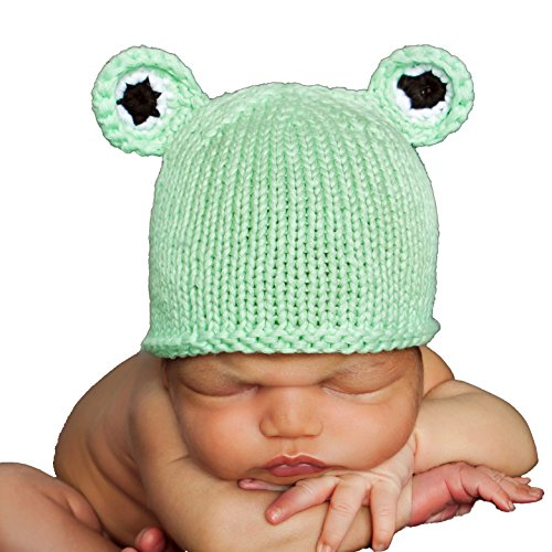 Huggalugs Baby Frog Newborn Boys or Girls Hospital Hat Gender Neutral White ()