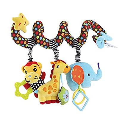 TOYMYTOY Kid Baby Spiral Bed Stroller Toy Monkey Elephant Educational Plush Toy by TOYMYTOY that we recomend individually.
