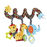 Baby : TOYMYTOY Kid Baby Spiral Bed Stroller Toy Monkey Elephant Educational Plush Toy