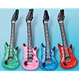ZeroShop(TM) 3 Pcs Inflatable Rock Star Guitar Party Decoration 34.5 Inches(Random Color)