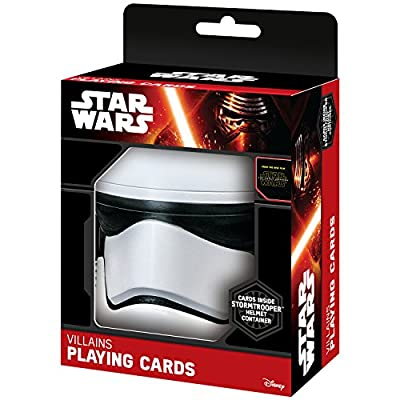 """Star Wars """"The Force Awakens"""" Villains Playing Cards in Storm Trooper Helmet Case"""