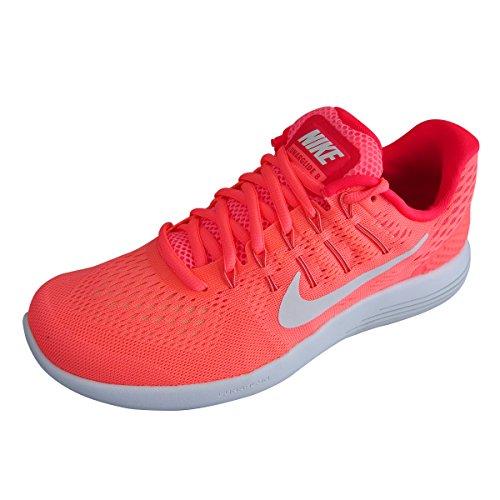Nike Lunarglide 8 Running Shoes - Womens - Bright Mango/White/Bright Crimson - UK Shoe Size 7 by Nike