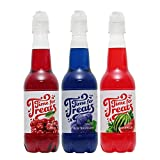 Time for Treats Cherry, Blue Raspberry, Watermelon Snow Cone Syrup 3-Pack by VICTORIO VKP1109