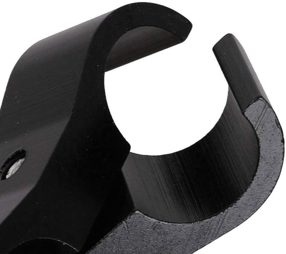 1 Piece 4AN AN4 Hose Separator Hose Clamp Fitting Bracket Fit for Braided Fuel Hose Line,Aluminium-Black