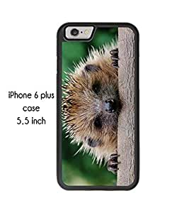 Cute Hedgehog Hedgepig iPhone 6 Plus 5.5 Inch Plastic and TPU Durable Phone Case Cover(Laser Technology)