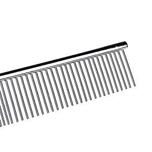 Sunnyhill HATELI Grooming Comb Stainless Steel Pet Grooming Comb for Cats, Dogs