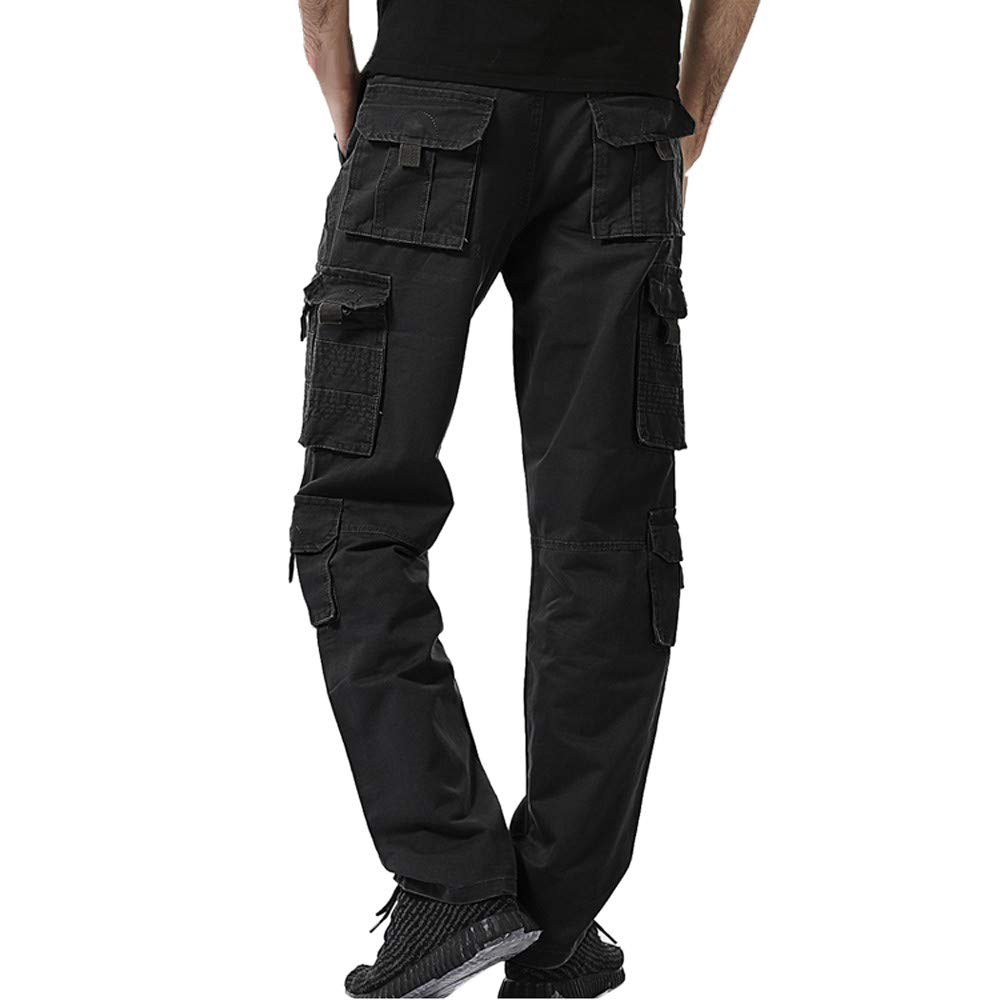 Amazon.com: Mens Multi Pocket Loose Casual Work Long Pants ...
