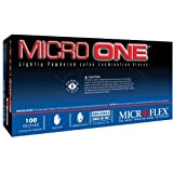 Microflex MO150L Lightly Powdered Micro-One Latex Glove Size Large, 100 Box by Microflex