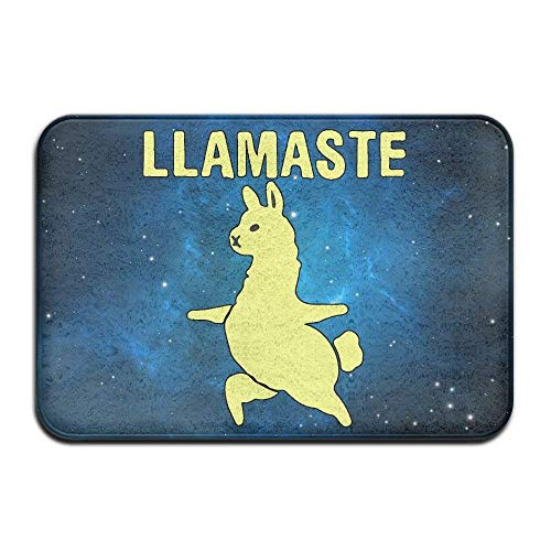Soft Non-Slip Llamaste Lama Peace Lover Bath Mat Coral Fleece Area Rug Door Mat Entrance Rug Floor Mats]()