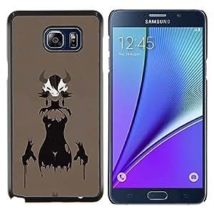 EJOOY---Cubierta de la caja de protección para la piel dura ** Samsung Galaxy Note 5 5th N9200 ** --Astado Señora