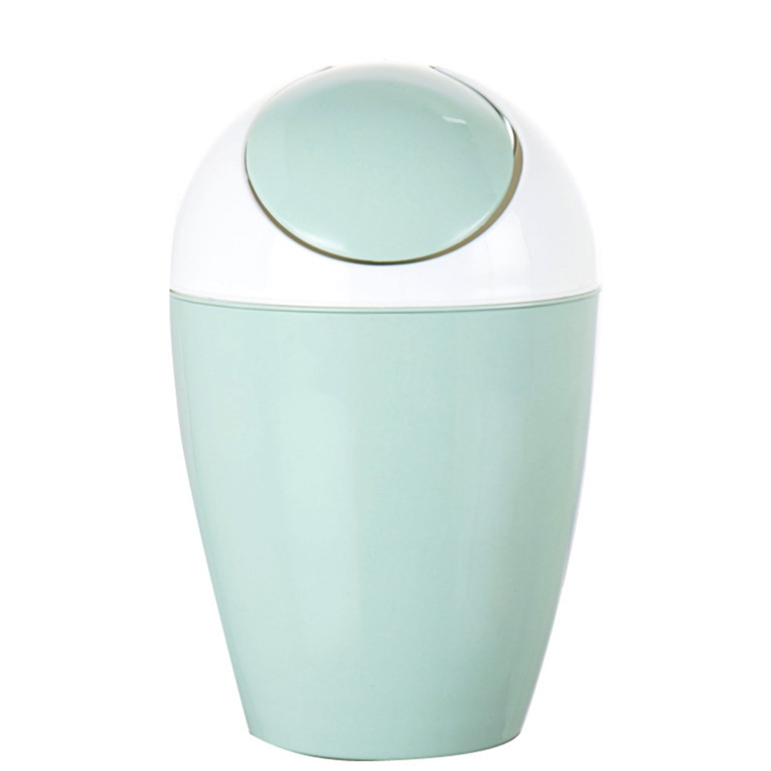 Trash Can, Lingxuinfo Round Rocking Cover Plastic Trash Can Kitchen ...