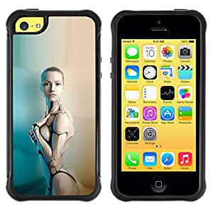 Jordan Colourful Shop@ Sexy Humanoid Robot Woman Rugged hybrid Protection Impact Case Cover For iphone 5C CASE Cover ,iphone 5C case,iphone5C cover ,Cases for iphone 5C