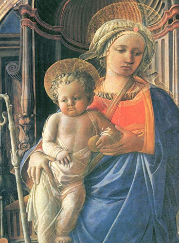 Home Comforts Peel-n-Stick Poster of Lippi, Fra Filippo - Madonna with Child, Angels and St. Frediano and St. Augustine, Detail [1] Vivid Imagery Poster 24 x 16 Adhesive Sticker Poster Print (Fra Filippo Lippi Madonna And Child With Angels)