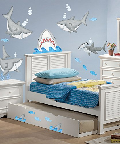 Borders Unlimited Fish'n Sharks Super Jumbo Applique