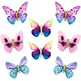 Elesa Miracle Baby Girl Hair Clips Toddlers Infants Kids Hair Butterfly Snap Clips Barrettes (8pc- Colorful Butterfly)