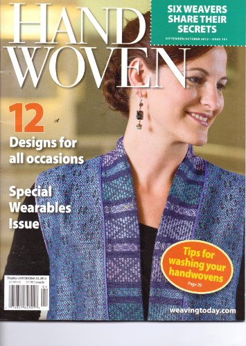 HAND WOVEN Magazine - 12 Designs For All Occassions. #161. Oct 2012.