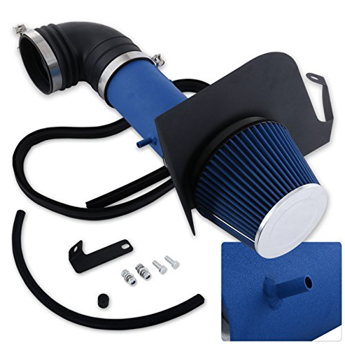 For Cadillac Cts-V V8 5.7L 6.0L High Flow Induction Air Intake System + Heat Shield Blue Wrinkle Piping Kit