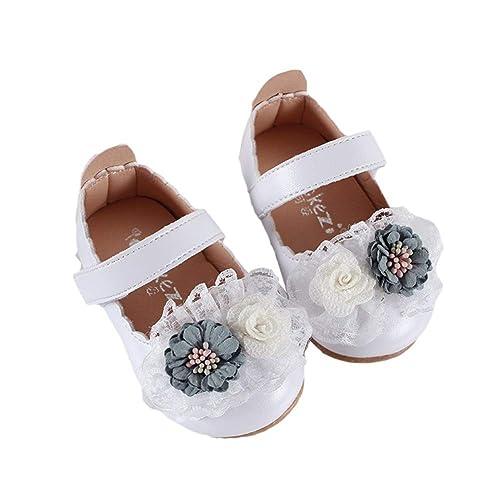 Miyanuby Zapatos para Bebe Niña | Zapatos Princesa Suela de Goma Antideslizante Flor Zapatos de Vestir | Mocasines Niña 6 Meses - 4 Años: Amazon.es: Zapatos ...