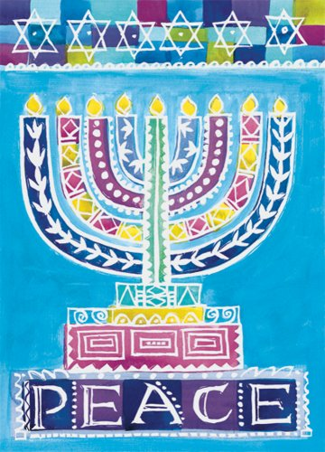 Bright Menorah Boxed Notes ()