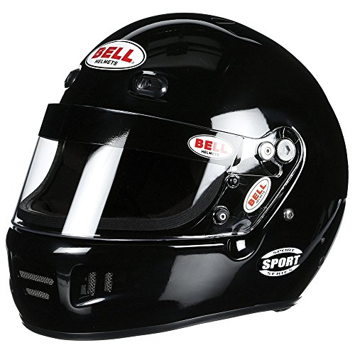 Bell 1310015 RS7 MATTE BLACK 58 (7 1/4) (SA2015/FIA8858-2015 (HANS) BELL HELMET - Free Deluxe Helmet Bag Included ()