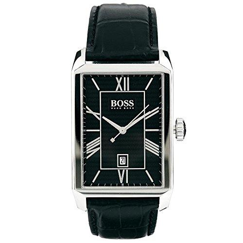 Hugo Boss 1512968 30mm Stainless Steel Case Black Calfskin Mineral Men's Watch