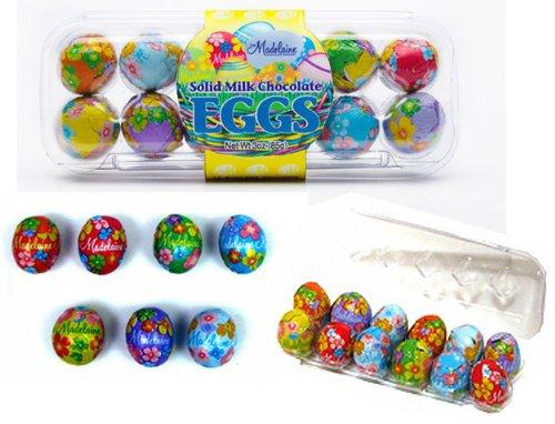 Italian Chocolate Easter Eggs - Madelaine Chocolate Milk Chocolate Egg Crate