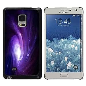 La ola del Galaxy - Metal de aluminio y de plástico duro Caja del teléfono - Negro - Samsung Galaxy Mega 5.8