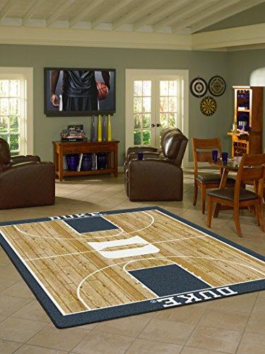 Duke College Home Basketball Court Rug: 7'8