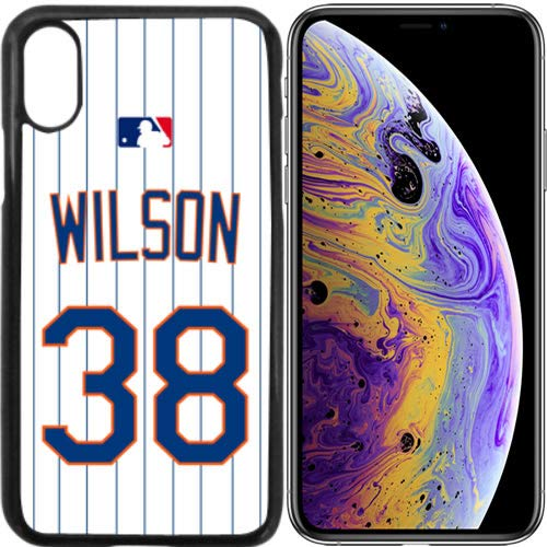 iPhone X, XS, XS Max New Case Mets NY Home Jersey Baseball Fashion Grip Anti-Slip Protective Shock Resistant Durable PC TPU by Mr Case (Wilson, iPhone Xs Max)