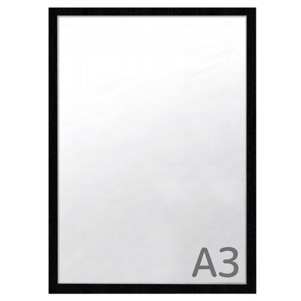 カスタムアルミフレーム ワイド30 A3サイズ【木目調】 W-202 フレームの幅が広いポスターパネル 豊富なサイズカラー   B07D992C7Z