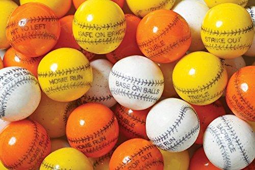 Oak Leaf Baseball Gumballs White Orange & Yellow Colors 2 Pounds