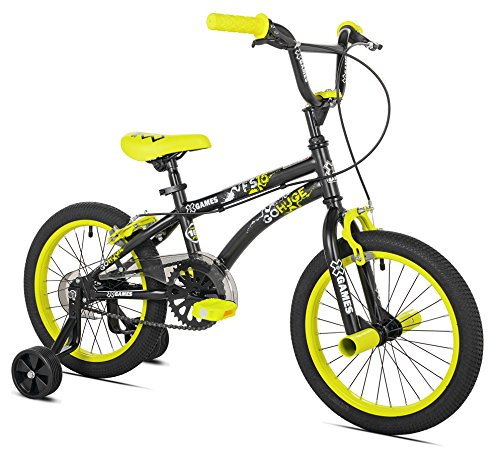 Freestyle Bike Bicycle - X-Games FS-16 BMX/Freestyle Bicycle, 16-Inch, Black/Yellow