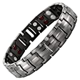 Mens Willis Judd New Four Element Gunmetal Titanium Magnetic Bracelet In Black Velvet Gift Box & Free Link Removal Tool