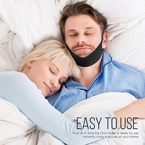 Anti Snoring Chin Strap - Adjustable belt for men, women and kids -The ultimate bedtime snore solution. A safe simple effective sleep aid providing loved ones with a peaceful nights sleep