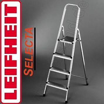 Unterschiedlich Leifheit 73054 Selecta 4-Stufen Alu-Leiter Sicherheitsleiter  GW91