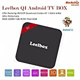 Leelbox Q1 2016 latest TV box Android 5.1  Kodi 16.0 RK3229 Quad-core Cortex A7 1.5GHz 64bit Miracast 4K*2K Media player Smart TV box Compatible with all display with HDMI or AV interface