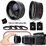 PRO 58mm Lens Attachment for all 58mm Lenses Tele & Wide Angle Set