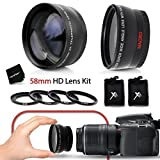 PRO 58mm Lens Attachment for all 58mm Lenses Tele & Wide Angle Set)