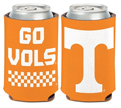 WinCraft NCAA University Tennessee Volunteers Go Vols 1 Pack 12 oz. 2-Sided Can Cooler